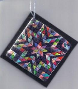 Scrap Star Needlepoint Ornament