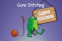 gone stitching logo