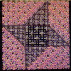 Friendship Star featuring Blackwork, copyright Napa Needlepoint