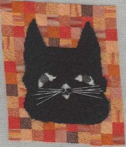 halloween cat needlepoint