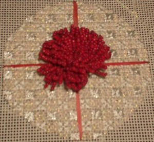 All Wrapped Up Free Needlepoint Ornament Pattern