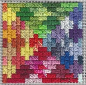 Rainbow Bricks Free Needlepoint Ornament