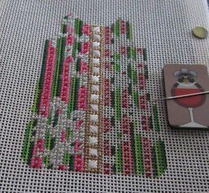 Barbara Bergsten shift ornament needlepoint canvas