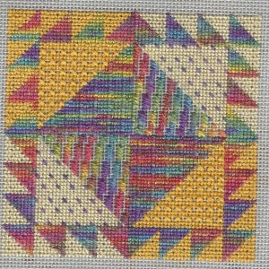 25 Tent Stitches Needlepoint Sampler