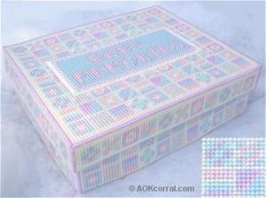 plastic canvas keepsake box