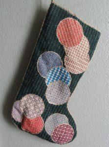 ornament Blackwork Stocking