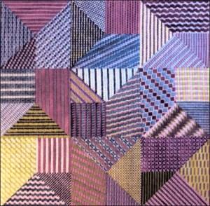striped needlepoint sampler from Finger Step Designs