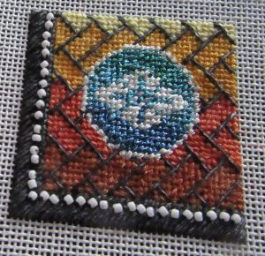 Mindy gradient mini needlepoint