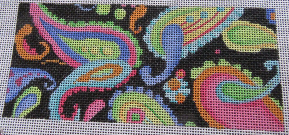 Associated Talents needlepoint paisley wallet insert