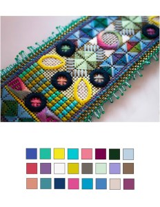Orna Willis needlepoint with color palette