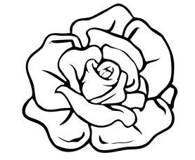 free printable rose shape template 610x229 nuts about needlepoint