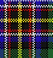 Section of Irish National tartan for template
