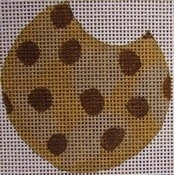 Little Shoppe needlepoint chocolate chip cookie canvas