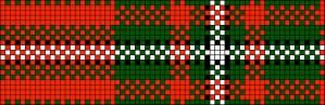 MacGregor tartan, charted for belt