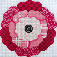 painted stitches flower