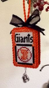 Kathy Schenkel custom SF Giants canvas