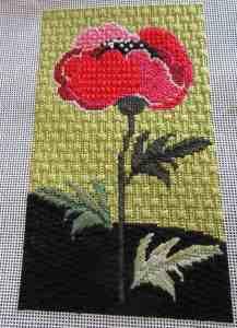 needledeeva poppy needlepoint