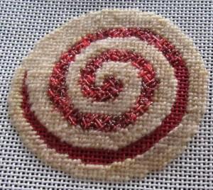 needlepoint pinwheel cookie
