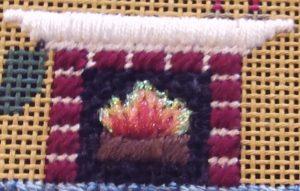 How to Stitch a Fireplace