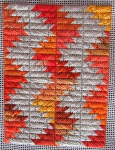 free scrap bag, stash buster needlepoint quilt portrait