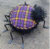 Halloween Plaid Spider