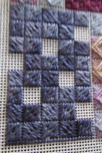 block of Scotch Stitch with units left out
