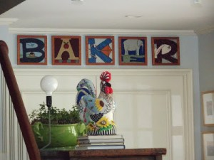 rooster and baker needlepoint