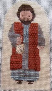 Petei nativity needlepoint, Joseph