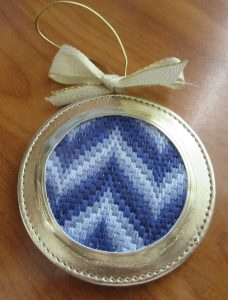 Bargello needlepoint ornament