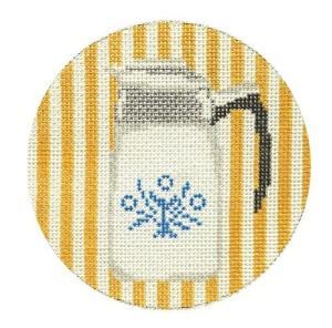 retro corning coffee pot needlepoint from Plum Stitchery