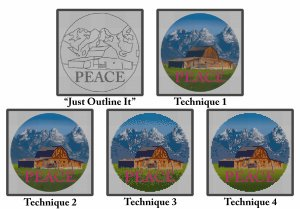 needlepoint canvas painting styles