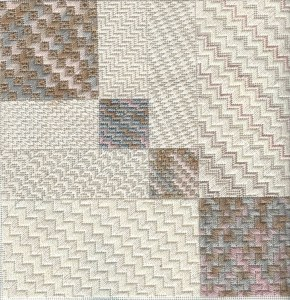 needlepoint byzantine stitch sampler from Napa Needlepoint