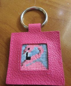 point2pointe needlepoint keychain