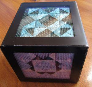 Studio Decor mini phot cube finished with needlepoint