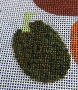 needlepoint damask pumpkin