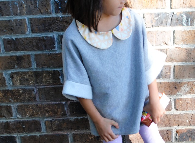 Kaleidoscope top w peterpan collar