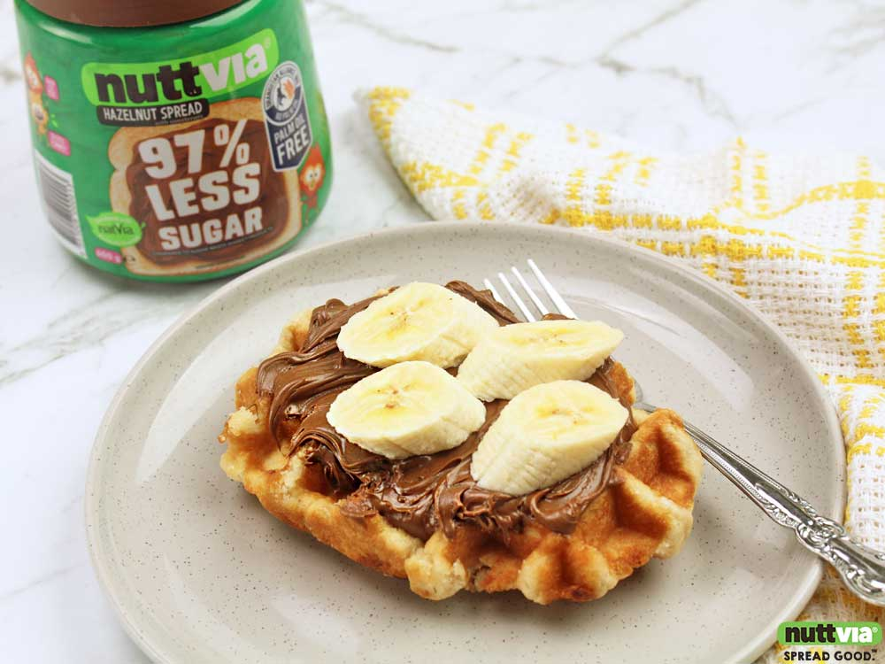 Nuttvia with Banana Waffle