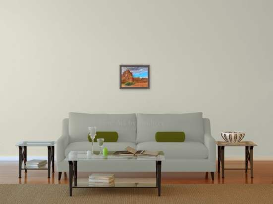 11x14 Picture over the sofa