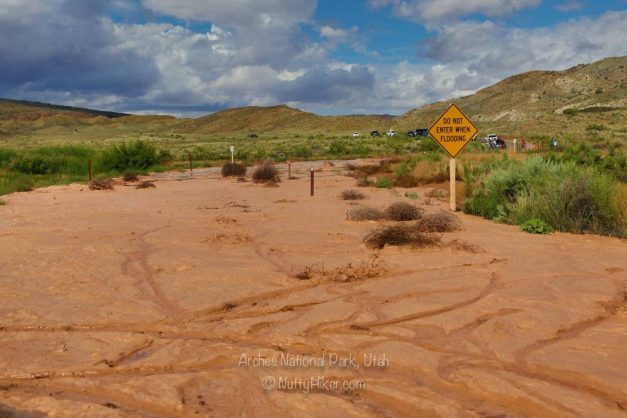 Arches National Park, Utah - Flooded road