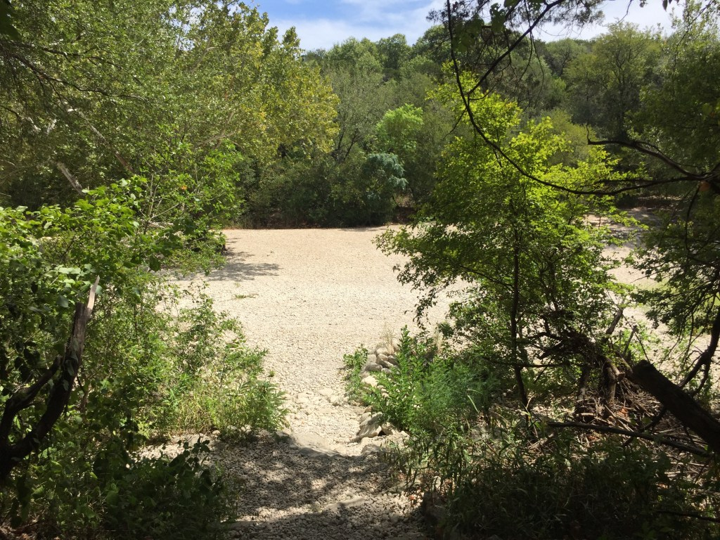 Gus Fruh Swimming Hole on Barton Creek Greenbelt Trail dried up