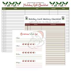 FREE Holiday list printable's