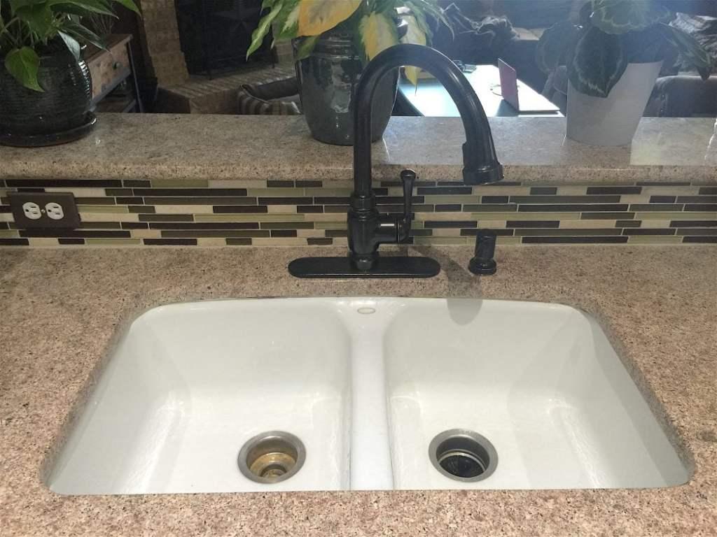kitchen faucet after