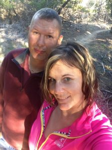 Hiking with the hubby at Dana Peak Park after the fire in Oct 2015.