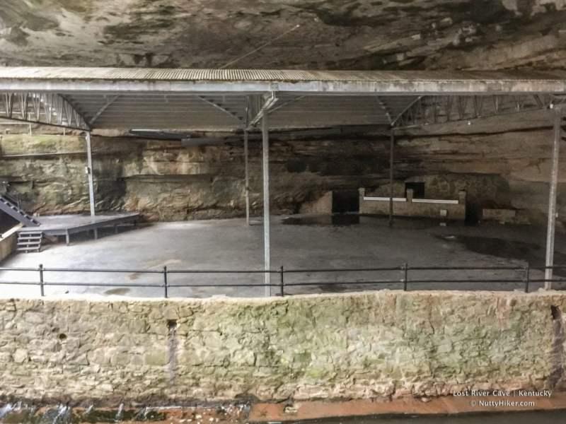 Lost River Cave in Kentucky dance club floor.