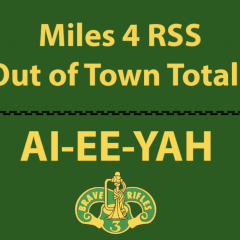 Out of Town Total Miles Logged for 3CR RSS Soldiers