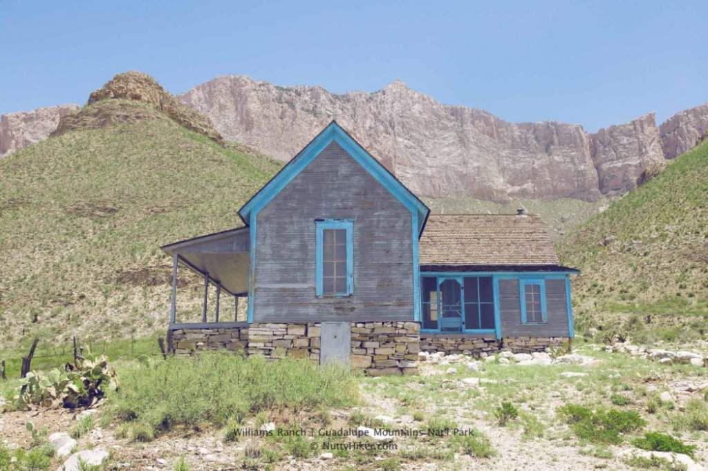 Williams Ranch at Guadalupe Mountains National Park in Texas