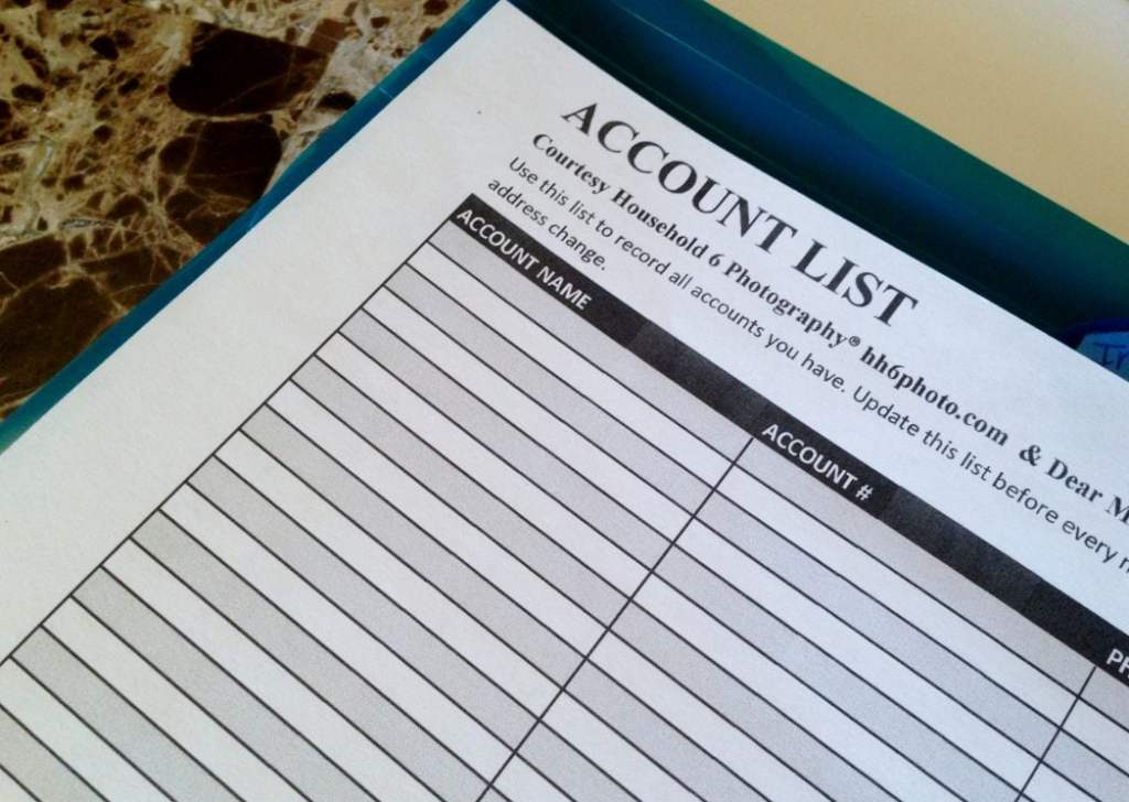 Account List Template