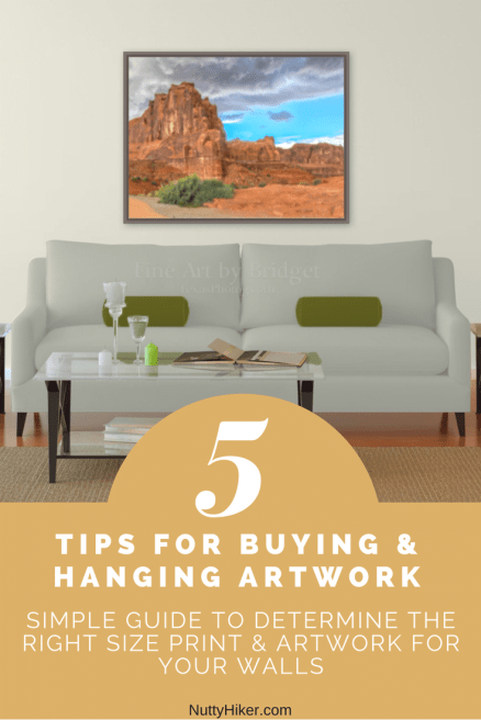 Use this Artwork Hanging Guide to help you determine the correct size piece of artwork or picture you should hang on your walls. 5 tips the pros use WITH examples!