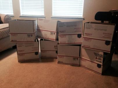 Care packages for deployed soldiers
