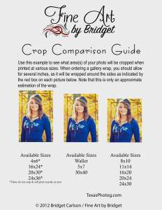 Crop Guide: Visual to show how pictures are cropped.